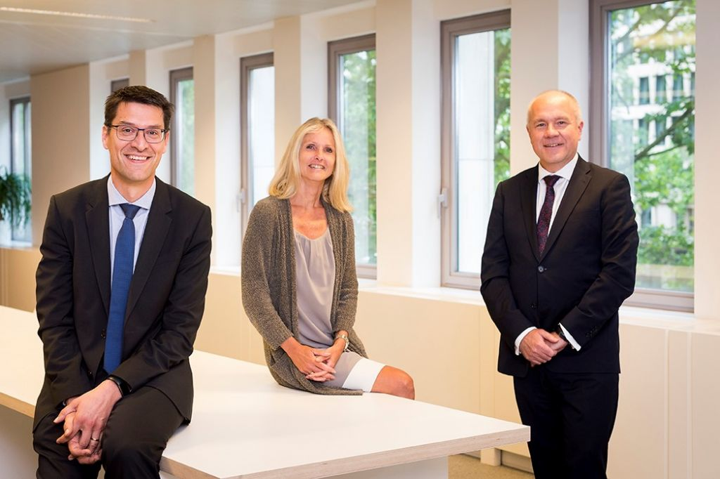 Van links naar rechts: Erwin Malcorps (Managing Director, Sweco Belgium),Vicky De Bollen (Director Finance, Facility & Legal, Sweco Belgium) en François Dorland (Directeur Général SGI Groupe)