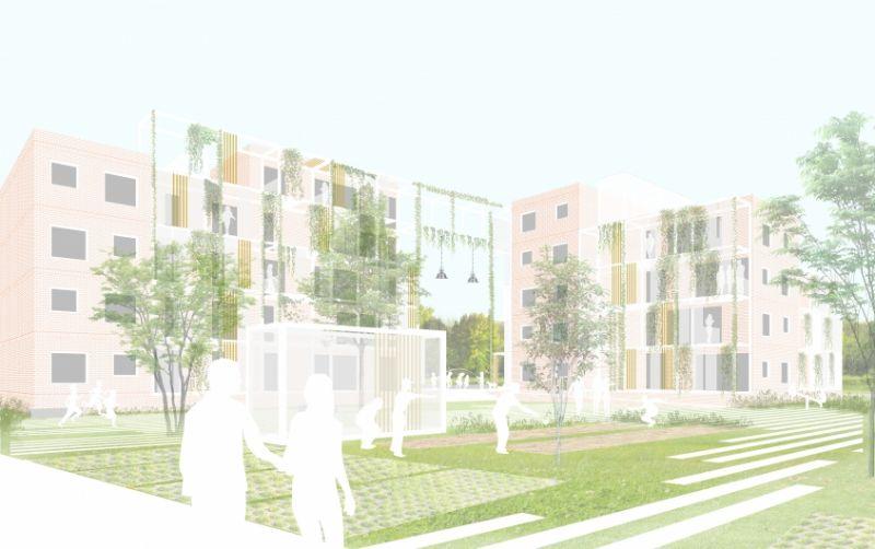 Net Niet: Sociale woningbouwproject Vidse in Geel (lava architecten)