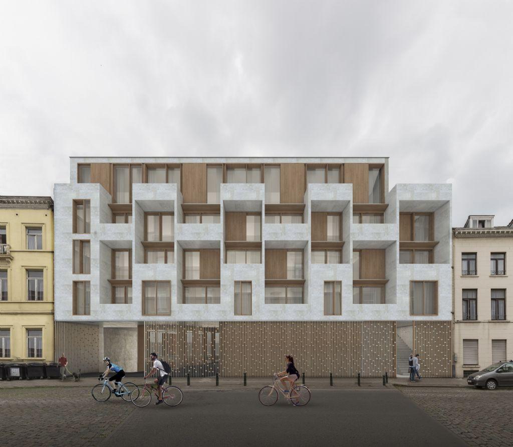 BOB361 architects ontwerpt nieuwe school en passiefwoningen in hartje Brussel