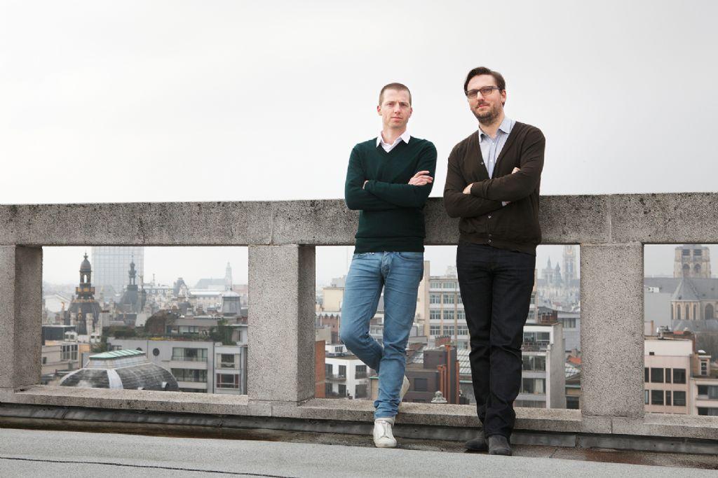 Stijn Cockx met medevennoot Tom Hindryckx van LOW architecten.