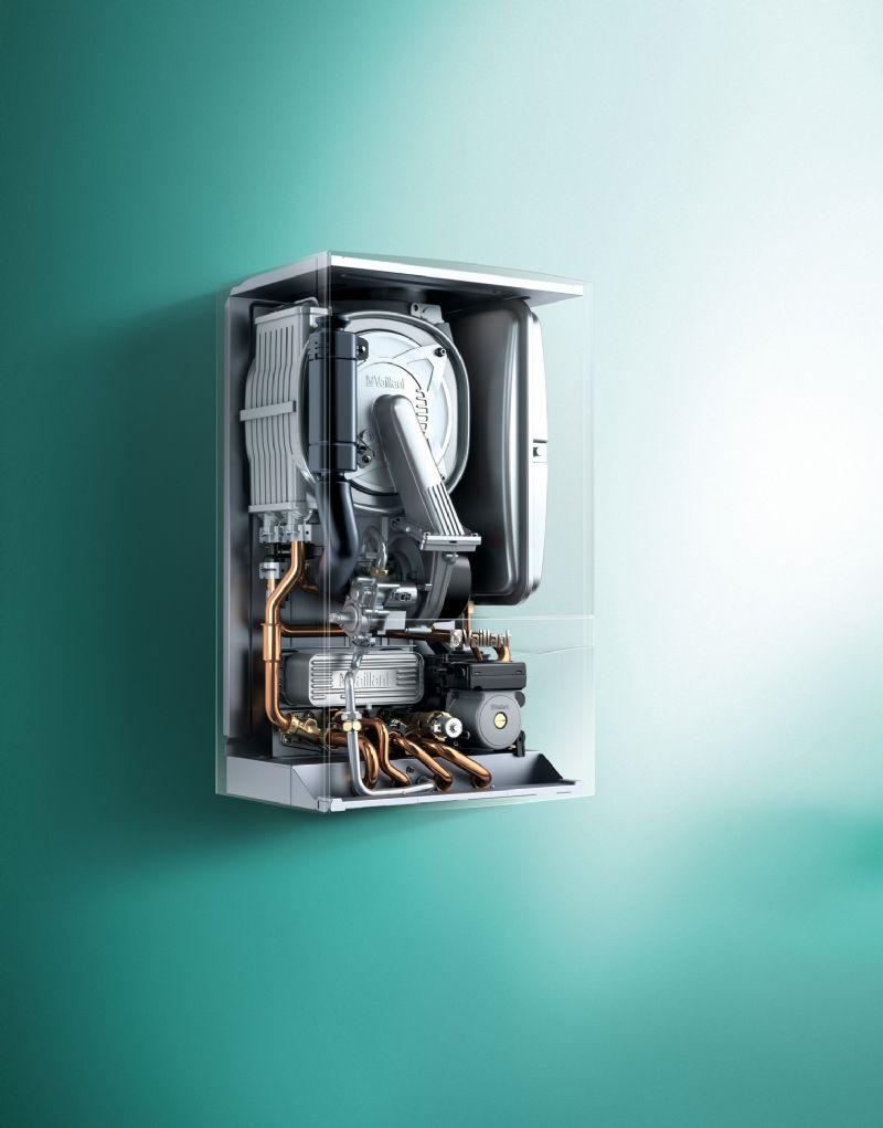 Een kijkje aan de binnenkant van de ecoTEC plus condensatiegaswandketel.