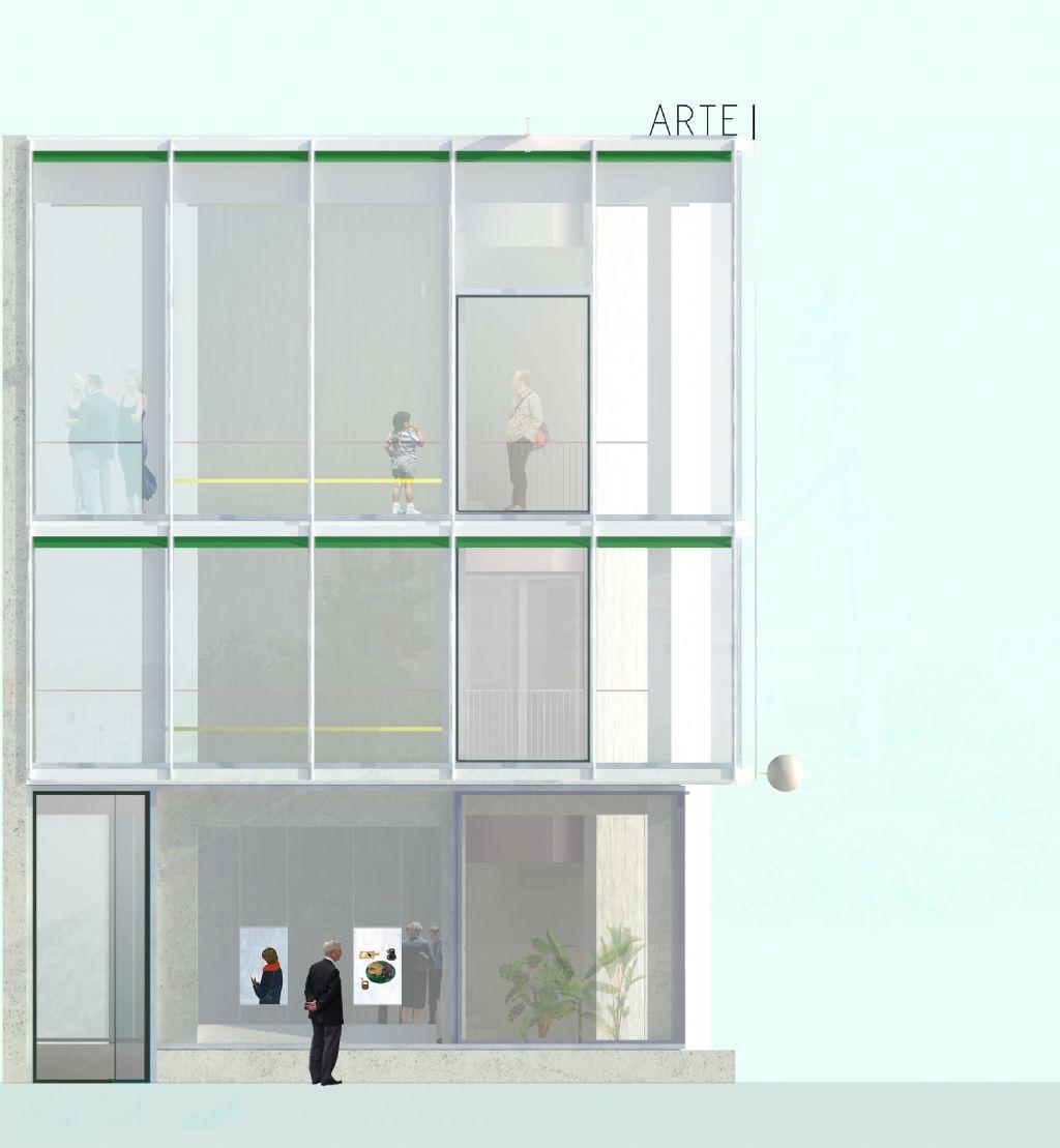 Centre culturel à Jette, concours remporté en 2018