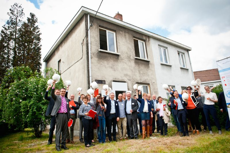 Het RenovActive-team voor de arbeiderswoning in de Goede Luchtwijk in Anderlecht.