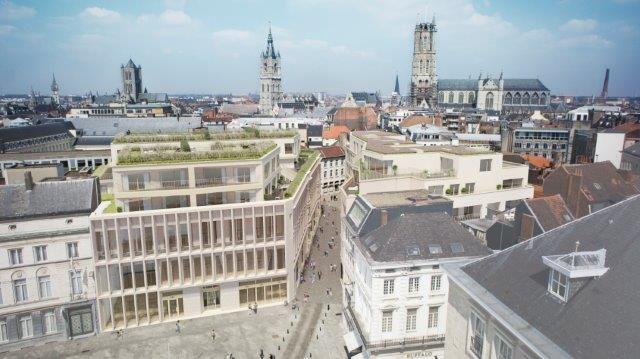 Als belangrijk onderdeel van de historisch-culturele stadskern en epicentrum van het plaatselijke shoppinggebeuren vormt De Kouter een meer dan unieke woon- en winkellocatie. De realisatie van het Kouterdreef-project zet dit nog eens extra in de verf.