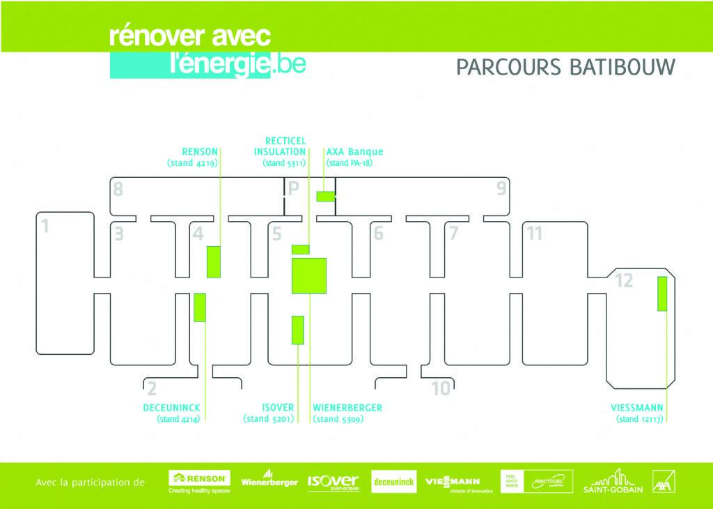 Parcours 'Rénover avec l'énergie' à Batibouw et encouragement financier