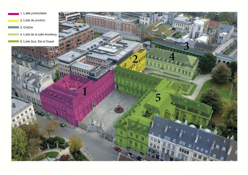 Rénovation des toitures du Palais d'Egmont : c'est parti !
