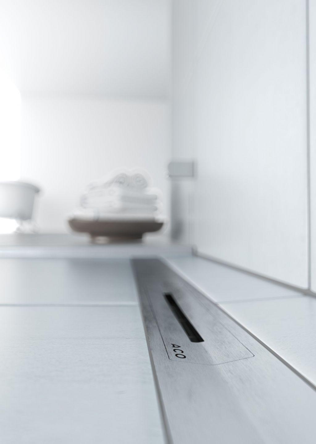 ACO présente une nouvelle génération de caniveaux de douche sans cadre
