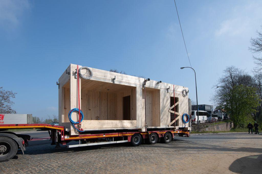 Des pavillons modulaires en bois comme logements sociaux provisoires