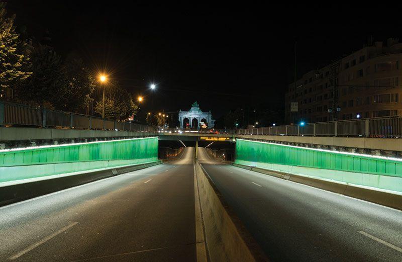 Schréder-ledverlichting verhoogt comfort en veiligheid Jubelparktunnel