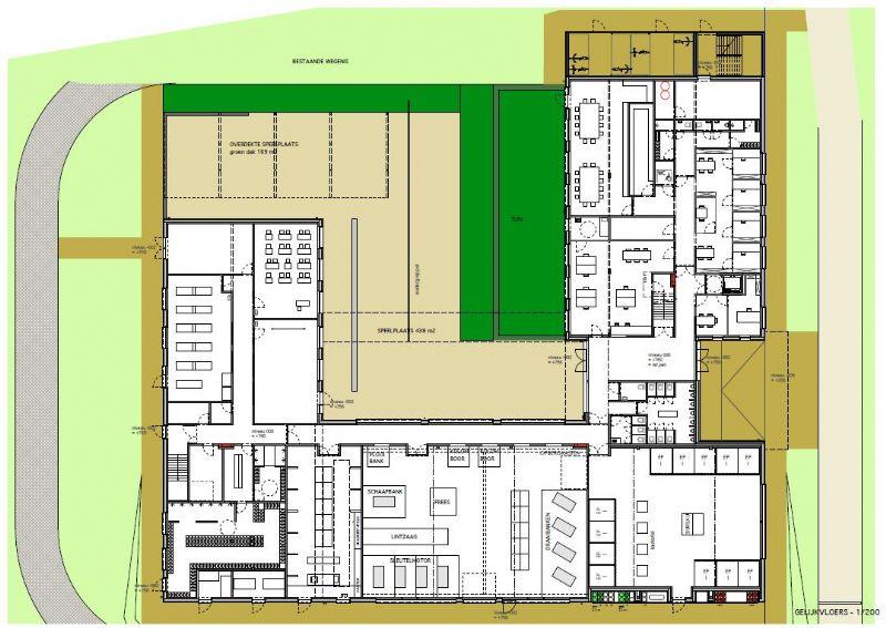 Plan van het gelijkvloers.