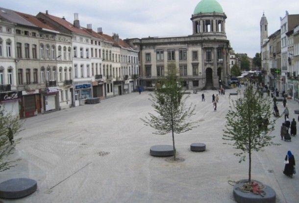 Het gemeenteplein van Molenbeek