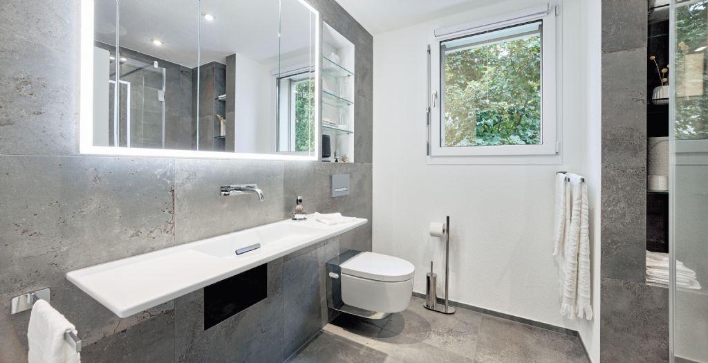 Une installation sanitaire raffinée et optimalisée