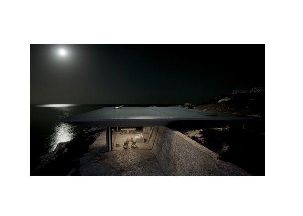 's Nachts weerkaatst het water het licht van de sterren.