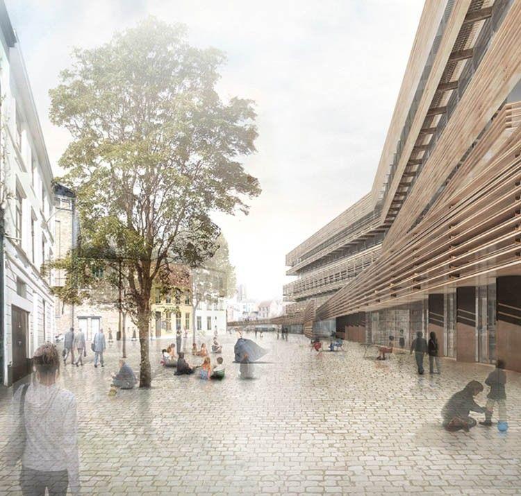 De Waalse Krook in Gent is een realisatie van Coussée & Goris Architecten en RCR Arquitectes.