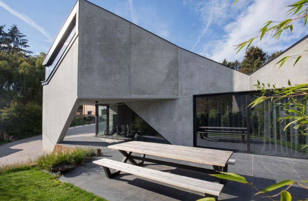Een origami van beton