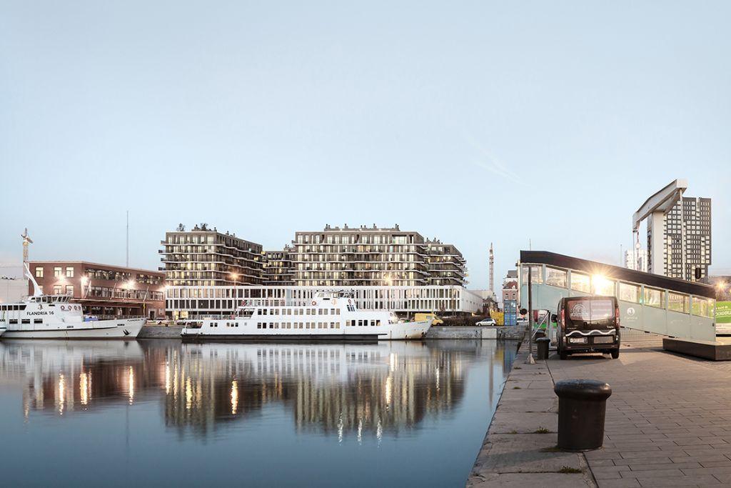 Kernmerkende balkons Cadiz-project in Antwerpen verankerd met Schöck Isokorb® T