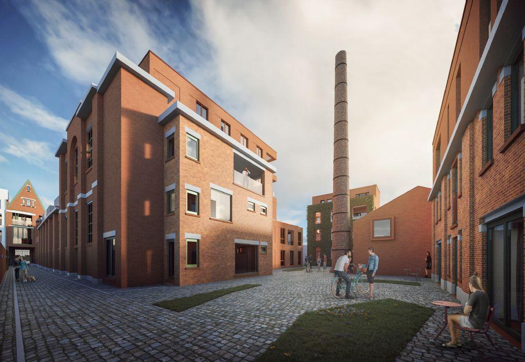Antwerpse snoepjesfabriek Roodthooft krijgt tweede leven als woonerf