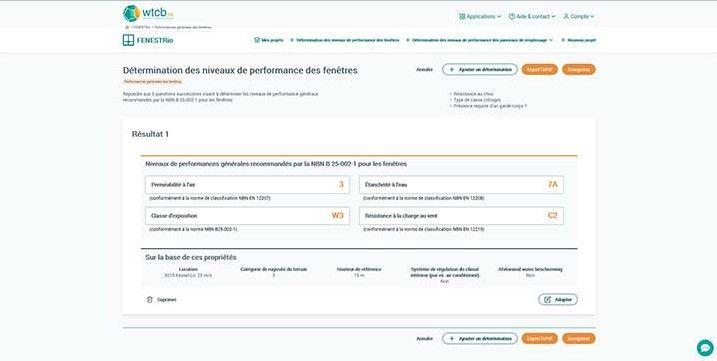 FENESTRio, pour déterminer les niveaux de performance des fenêtres et de leurs panneaux de remplissage