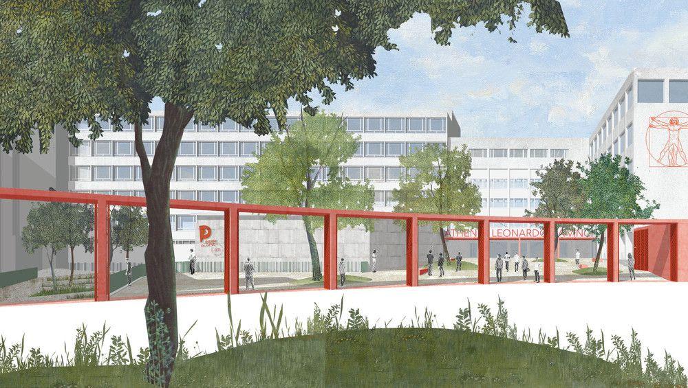 Le bureau Vers.a désigné pour la rénovation et l'extension de l'AR Léonardo Da Vinci