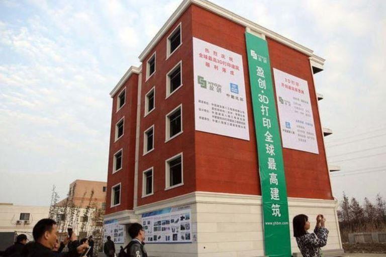 China verbaast met eerste flatgebouw uit 3D-printer