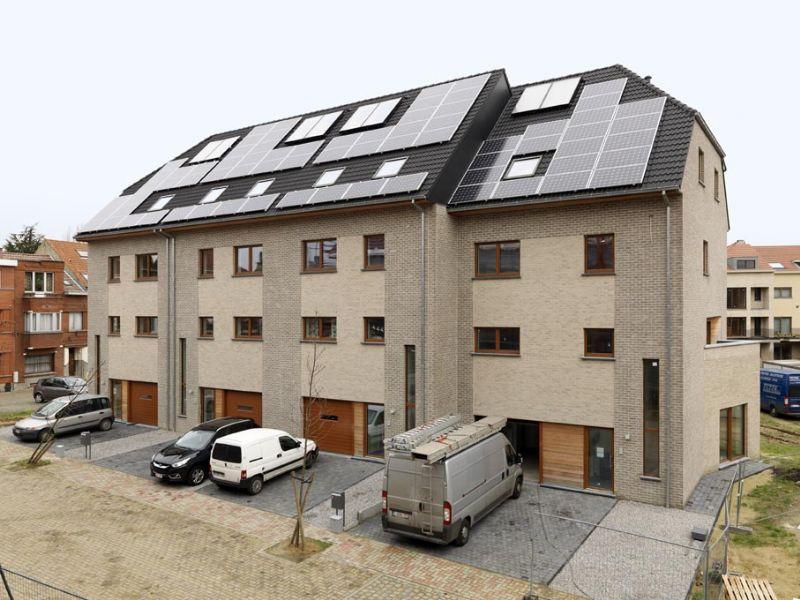 Woningcomplex in Evere toont combinatie passiefbouw en hernieuwbare energie