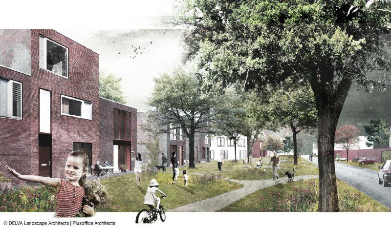 Plusoffice architects - DELVA Landscape drukt stempel op Puurs