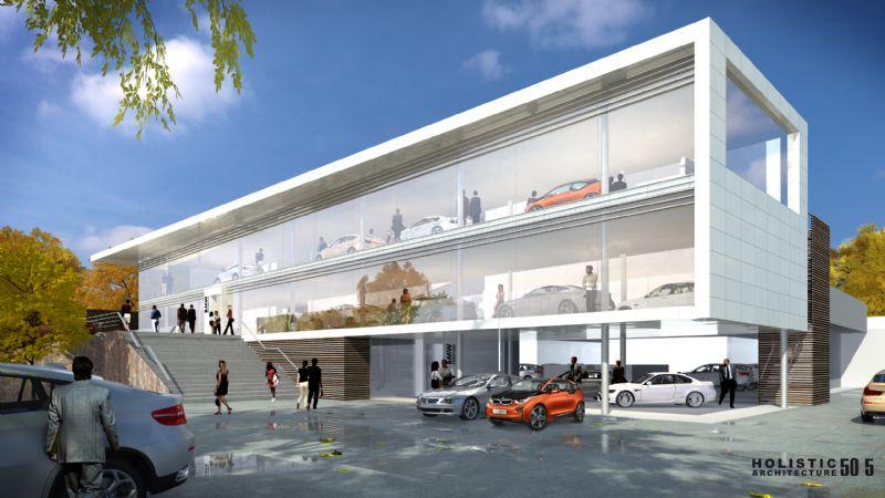 Garage Van Osch krijgt een dubbeldekshowroom.