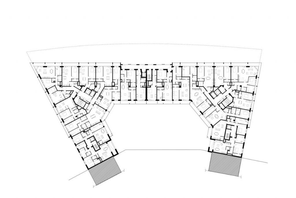 Plan d'un étage-type.