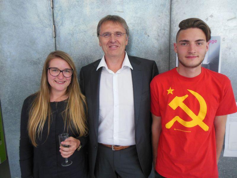 Matilde Everaert (links) Philippe Van Goethem (midden) Fred Meeuwens (rechts).