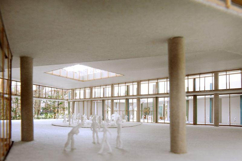 Binnenin het nieuwe VRT-gebouw.