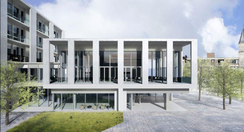 Het administratief centrum van Deinze zal in april 2016 klaar zijn © Tony Fretton Architects