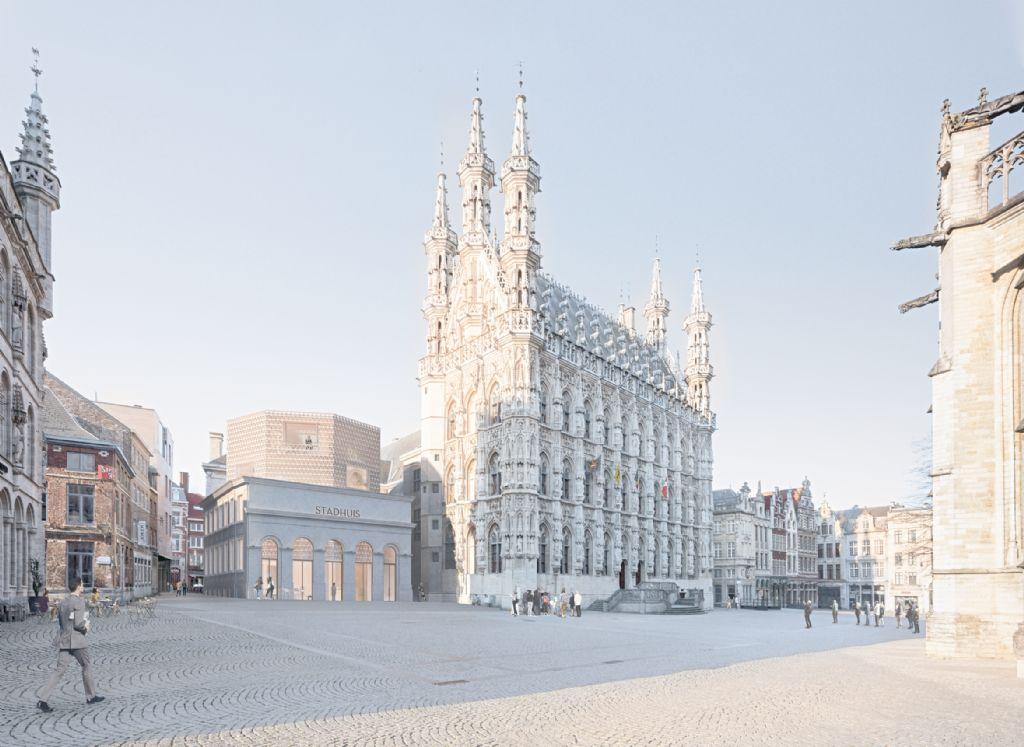 aNNo architecten en FELT architecture & design vormen historisch stadhuis van Leuven om tot open huis