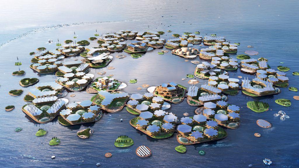 BIG onthult Oceanix City: de drijvende stad die orkanen kan weerstaan