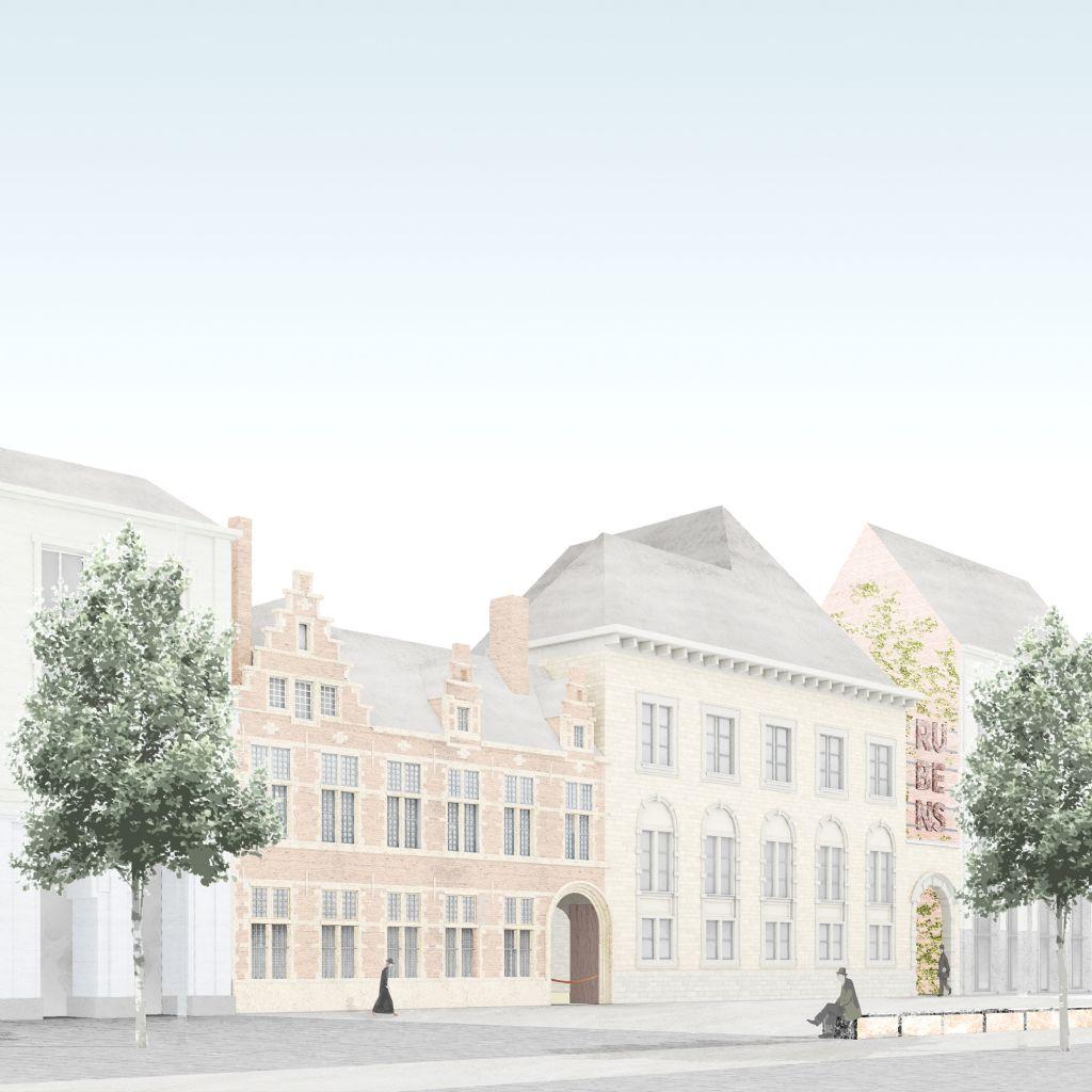 Net niet: bezoekerscentrum voor het Rubenshuis van Bovenbouw Architectuur