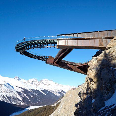 Sturgess Architecture ontwierp deze Glacier Skywalk in het Jasper National Park.