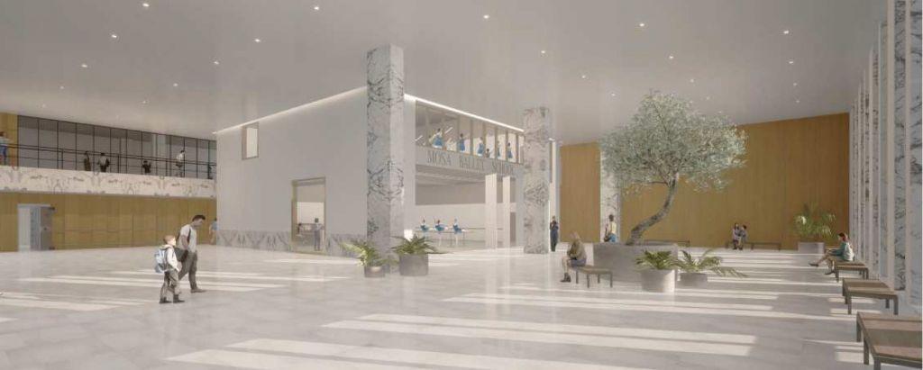 Le majestueux hall d'entrée pourra accueillir des événements de près de 750 personnes.