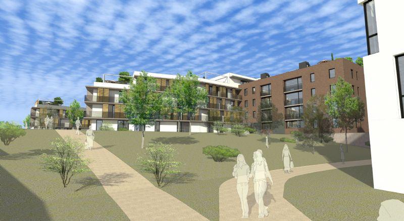 Le projet prévoit la construction d'un ensemble de petits immeubles de 3 à 5 niveaux. Leur interactions avec l'environnement extérieur est au coeur des intentions des architectes afin de créer des lieux propices au dynamisme social et au bien-être.