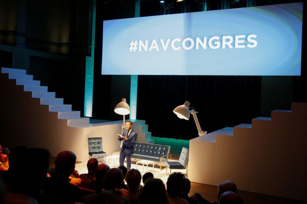 Het Architectencongres van NAV lokte 340 nieuwsgierigen naar de Gentse Handelsbeurs. (Beeld: Tim Van Wichelen)