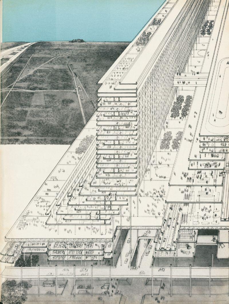 Het New Jersey Corridor Project uit 1965 was één van Graves' meer gewaagde ideeën en bestond uit een 30km lange lineaire i.p.v. verticale stad inclusief winkels, woningen en kantoren.