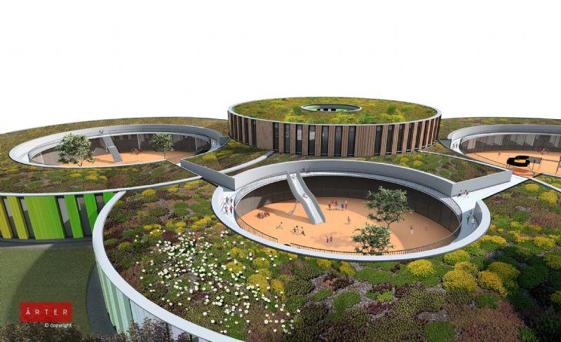 Arter ontwerpt duurzame school in Anderlecht