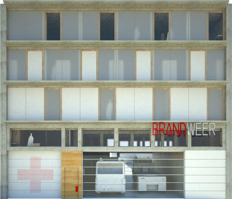 Net Niet: Voorpost Brandweerkazerne St. Jacobsmarkt-Antwerpen (BULK architecten)