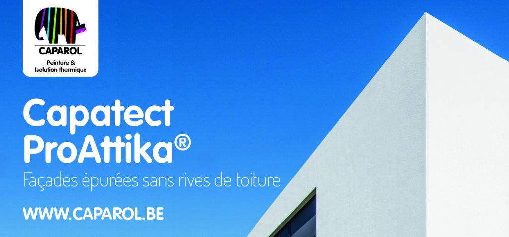 Capatect Pro Attika® de Caparol : des façades épurées sans rives de toiture