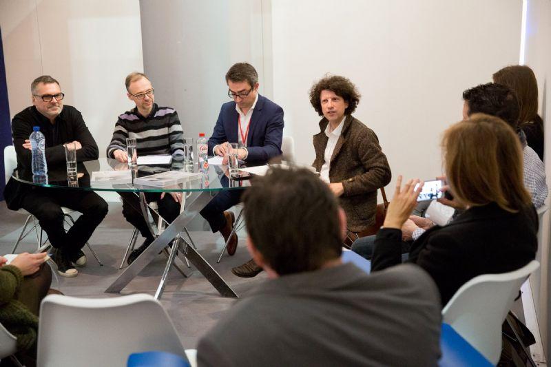 Leo Van Broeck, Peter Lacoure, Vincent Van Den Broecke en Koen Van Synghel.
