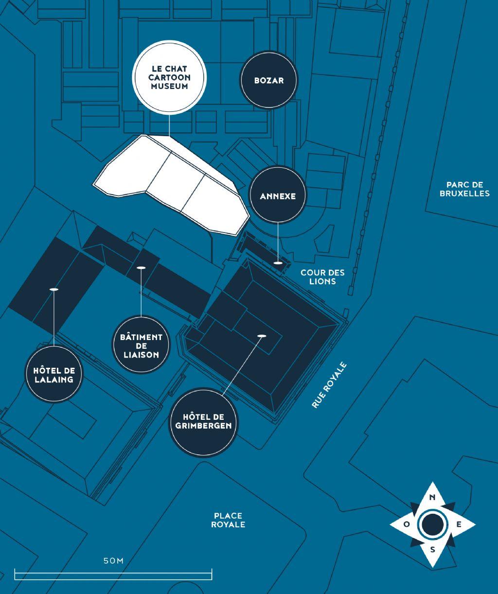 Le musée se trouvera à l'intersection de plusieurs institutions publiques et/ou culturelles