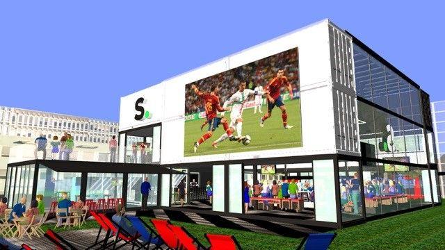 Containerarchitectuur voor WK-dorp Sporza