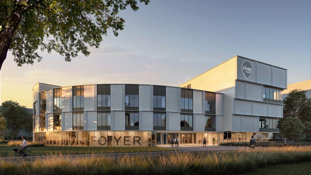 Hogeschool VIVES bouwt eerste leefcampus in Vlaanderen (Salens Architecten)