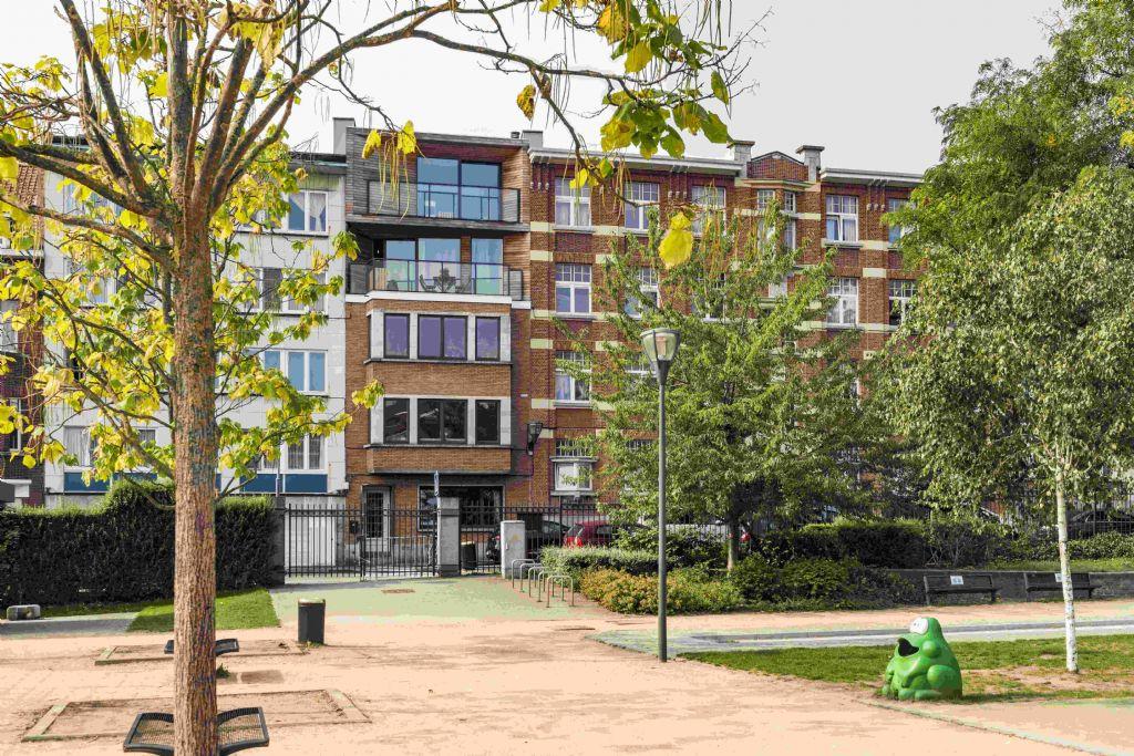 Een huis op een huis: duplex-appartement in Brussel