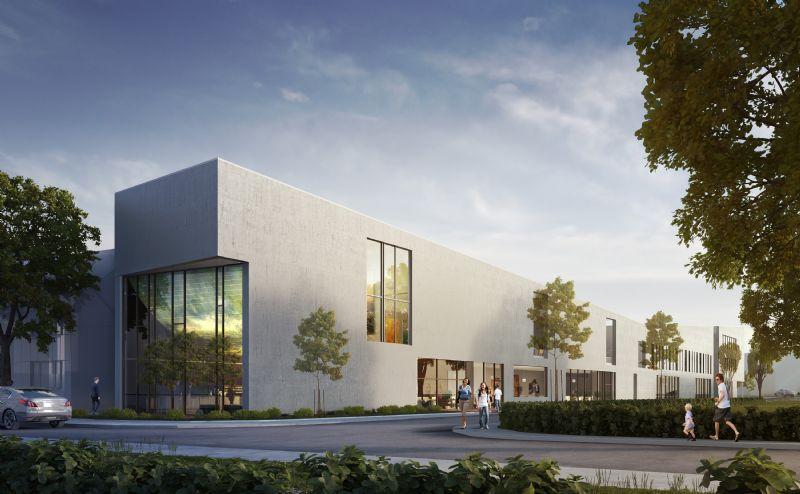 Het ontwerp van de nieuwe hotelschool in Kortrijk.