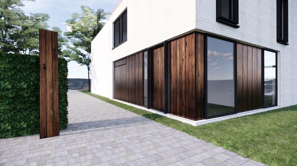 La première maison avec des cellules solaires comme revêtement de façade