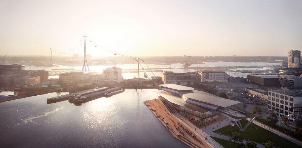 Ontwerp voor kabelbaan over Amsterdamse IJ onthuld